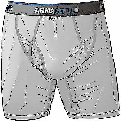Duluth Trading Company Mens Armachillo Cooling Boxer Briefs  83735 Light Grey XL