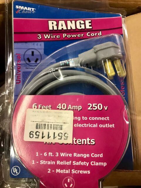 6/' Range Oven Cord 50Amp Gray color 250V NEW 3-Wire 6ft