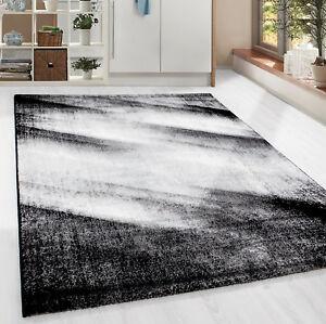 design-moderne-Tapis-a-poils-ras-abstrait-ombre-wohnzim-gris-noir-mouchete