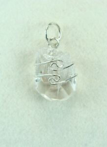 .7/18mm Danburite sterling silver wire wrapped Pendant #831