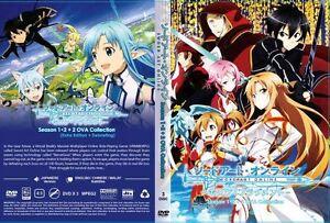 Details about Sword Art Online: Season 1&2 (Chapter 1 - 49 End + 2 OVA) ~  3-DVD ~ English Sub