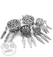 Stainless Steel Dreamcatcher Plugs Sizes / Gauges (00g - 1 Inch) - 1 Pair