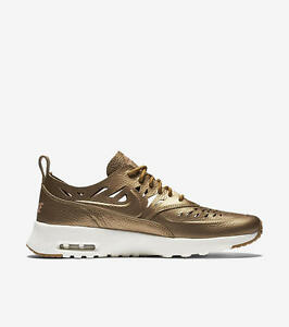 40e1b62c75 NIKE AIR MAX THEA JOLI 725118-900 Metallic Golden Tan Beige Phantom ...
