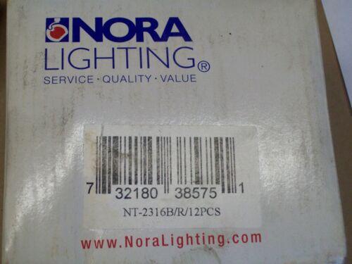 NORA LIGHTING BLACK DUAL CIRCUIT compatible w HALO TRACK  NT-2316B//R 6