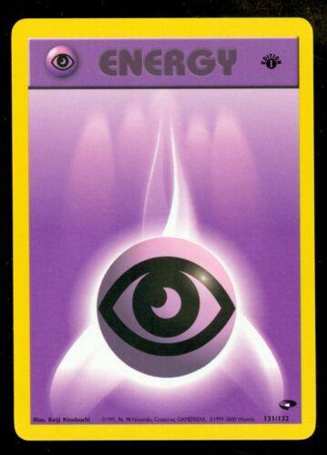 Pokemon PSYCHIC ENERGY 131//132 1st Edition Gym Challenge MINT