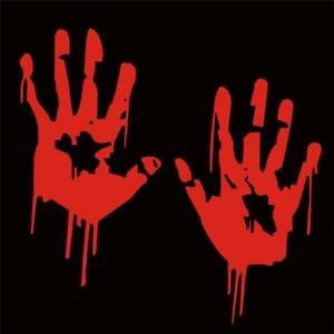 Zombie-Bloody-Hands-Print-Car-Or-Laptop-Decal-Vinyl-Sticker-For-Window-Panel-FI