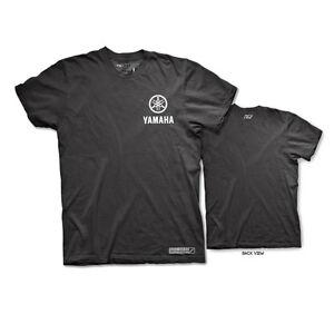 Factory Effex Unisex-Adult Yamaha Track T-Shirt Black, Large
