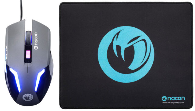 NACON Gaming Mouse GM-105 + Mousepad Bundle PC IT IMPORT NACON