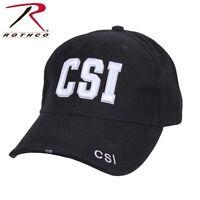 Crime Scene Investigator Black Low Profile Adjustable Cap Csi Baseball Hat 99387