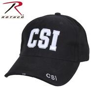 Crime Scene Investigator Black Low Profile Adjustable Cap Csi Baseball Hat 99387