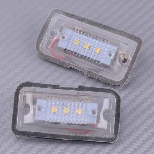 2X LED Number License Plate Light Fit For Mercedes Benz CLK280 CLK500