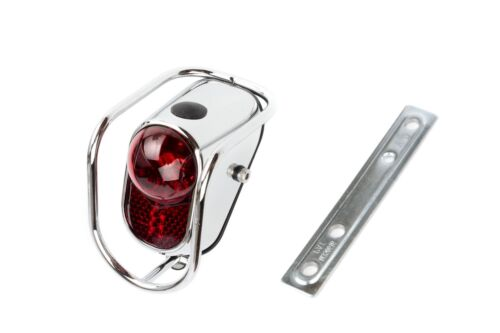 Still Vintage Classic Steel City Road Cycling Bike LED Rear Tail Light Silver