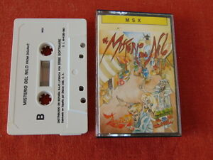 THE-MYSTERY-OF-THE-NILE-SPANISH-CIB-COMPLETE-MSX-CASSETTE-TAPE-613