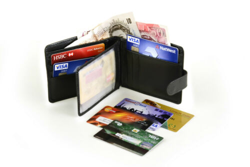 Leather Wallet Cowboy Credit Card ID Holder Coins Pouch Slim  Notes Bifold Style