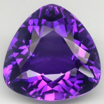6mm TRILLIANT-FACET DEEP-PURPLE NATURAL AFRICAN AMETHYST GEMSTONE