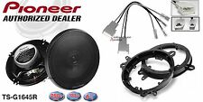 Pioneer TS-G1645R 6.5 Speakers + 1 Pair Front Adapters + Harness