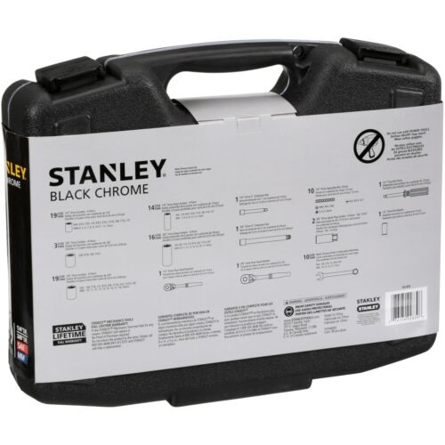 SAE Metric Stanley 92-839 99-Piece Black Chrome Socket Set