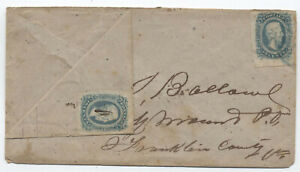 1860s Confederate States turned cover with military address [y4255]