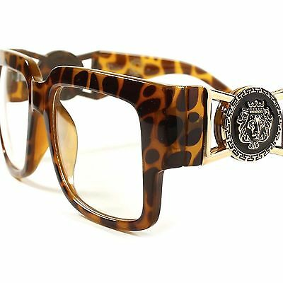 Hip Hop Swag Famous Mens Womens Clear Lens Bold Square Glasses Tortoise Frame
