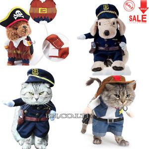 Vestiti Halloween.Dettagli Su Pet Cani Gatto Costume Vestiti Costumi Pirata Polizia Cowboy Vestito Halloween Mostra Il Titolo Originale