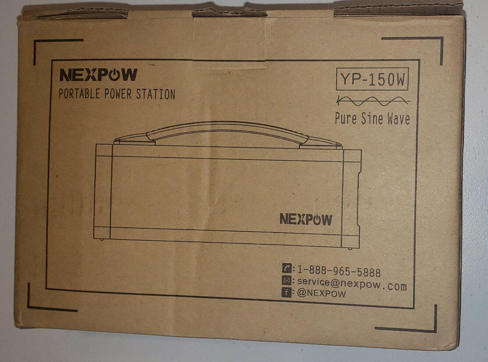 Nexpow Black YP-150W Pure Sine Wave Portable Power Station ~ Open Box