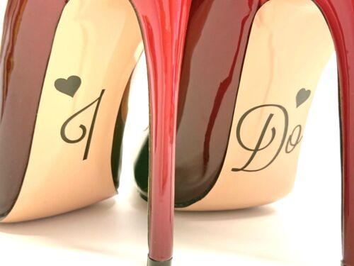 Rose Gold Mirror Wedding Shoe Vinyl Sticker /' I DO /' Glitter Bride Plain