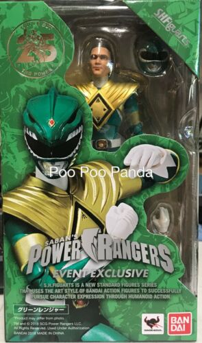 Bandai S.H.Figuarts Green Ranger Unmasked SDCC 2018 Exclusive IN STOCK USA