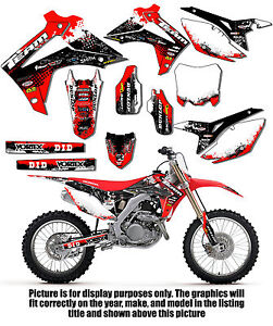 Image Is Loading 2017 2016 Honda Crf 450r Graphics Decals Deco