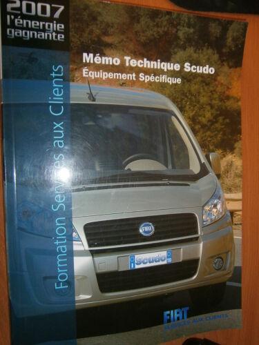 Fiat SCUDO 2007 doc formation technique