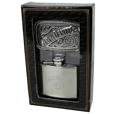 Flasks Industrious Jack Daniel's Old No.7 Flachmann/ Gürtelschnalle Geschenkset Daniels Buckle Good Taste Men's Accessories