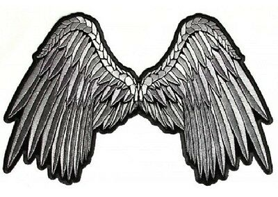 Angel Wings 11/'/'x 8/'/' Ladies Jacket Vest iron on Biker Patch FREE Shipping