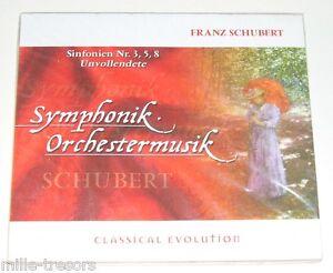 Album-CD-CLASSIQUE-Franz-SCHUBERT-Symphonies-N-3-5-et-8-Unvollendete