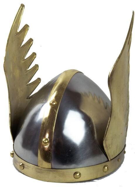 Wikinger Flügel Helm Gallier Mittelalter LARP Rüstung Ritterhelm LARP MMP98