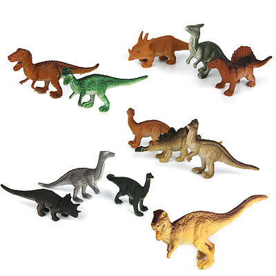 Lot 12Pcs Dinosaur Assorted Figures Jurassic Park Play Prehistoric Toy Set