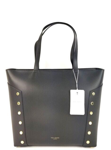 08d0eb33bca9e1 Ted Baker Tote Large Leather Studded Edge Tamiko Shopper Handbag (Black)