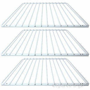 3 X DAEWOO Fridge Shelf White Plastic Coated Adjustable Freezer Rack