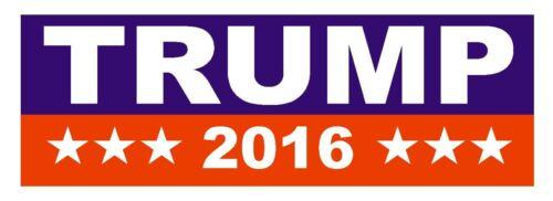 DONALD TRUMP 2016 TRUMP BUMPER STICKER or Helmet Sticker D820