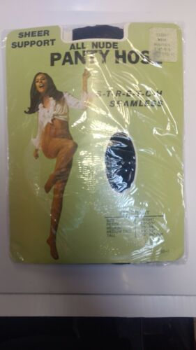 American Vintage Pantyhose All Nude Navy Med Tall Sheer Support Tights original