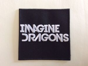 Imagine Dragons Black /& White 7.5cm Patch Embroidered Sew or Iron on Badge
