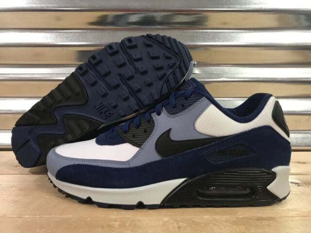 Nike Air Max 90 Leather Running Shoes Blue Void Ashen Slate SZ ( 302519 400 )