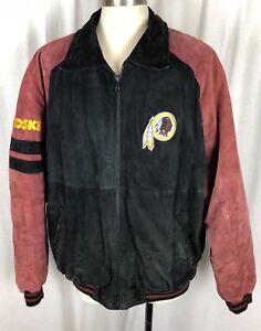 e2ffec74b Vintage Washington Redskins G III Carl Banks Leather Coat Jacket NFL ...
