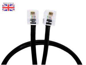3-m-Noir-Routeur-Extension-DSL-Cable-Rapide-Connexion-Haut-Debit-RJ11-RJ45-BT-Sky