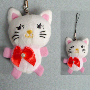 bijoux-de-portable-breloque-de-sac-petit-chat-rose-blanc-noeud-papillon-peluche