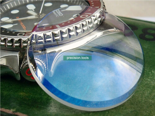 Double Domed Shape Crystal Glass With Blue Color AR For SKX007 011 Spare Parts