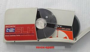 LOTE-2-CINTAS-BOBINA-CON-CAJA-SONY-DE-7-034-18-cm-LOT-REEL-TO-REEL-TAPES