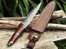 Scottish Dirk Dagger - Damascus Steel - Celtic - Sgian Dubh - Knife - Sheath