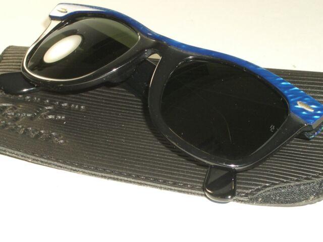 7b5dfa20b Vintage 50mm B&l Ray Ban Pearl Blue Street Neat G15 Wayfarer Sunglasses 3023