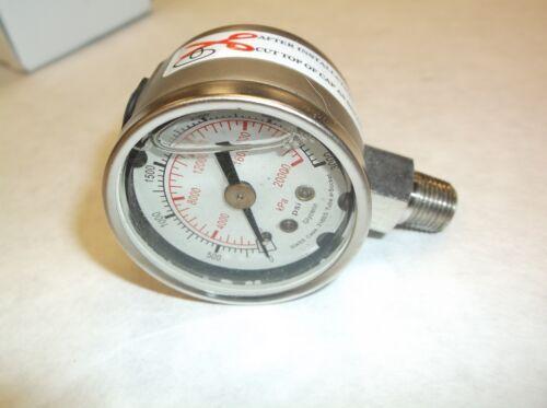 SS 0 a 3000 PSI llena de líquido Nuevo 4CFF2 calibrador de presión E4J en 1-1//2