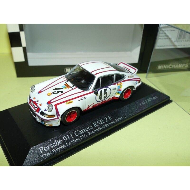 PORSCHE 911 CARRERA RS 2.8 N°45 LE MANS 1973 MINICHAMPS 1 43 Arrivée 8ème 1er Cl