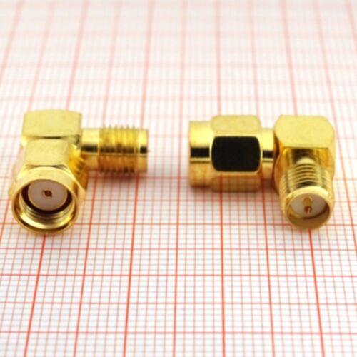90° Winkeladapter - Winkelstecker (RP)SMA Stecker auf Reverse SMA Buchse (J05G)